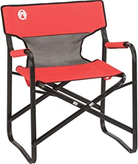 Coleman Steel Deck Chair with Mesh Back Panel