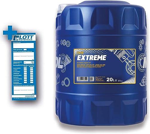 Mannol Extreme 5w 40 Api Sn Cf Motorenöl 20 Liter Auto