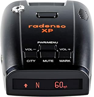 Radenso XP Radar Detector with GPS Lockouts, Red Light and Speed Camera Alerts