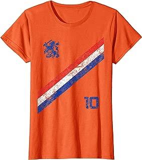 Womens Nederland Soccer Jersey Womens Vintage Holland Netherlands  T-Shirt