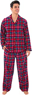 His and Hers Lightweight Flannel Pajamas, Long Button...