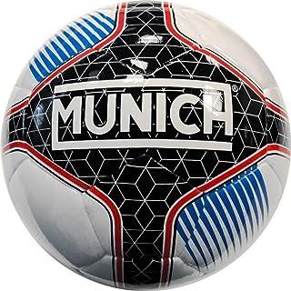 Munich Balón Fútbol Sala Hera Indoor Federacio Galega 62cm, Color Blanco/Negro