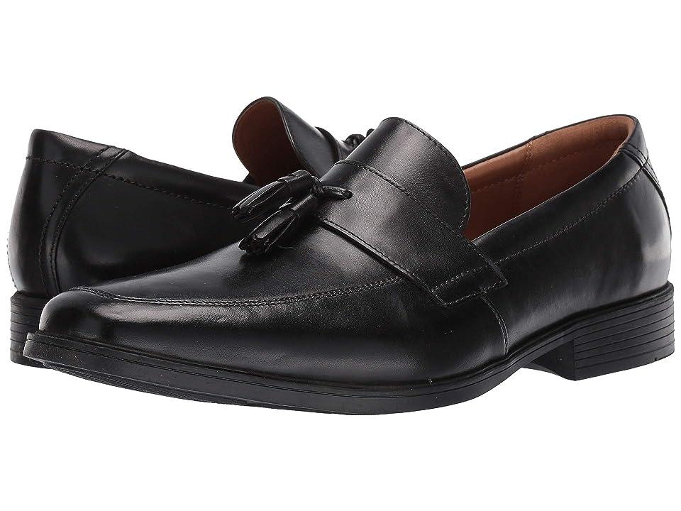 Clarks Tilden Stride (Black Leather) Men