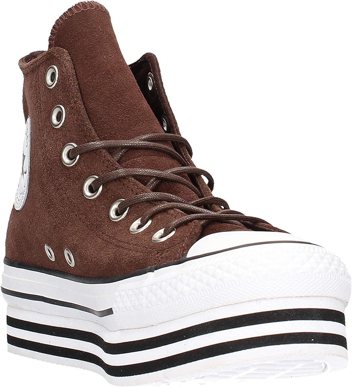 Converse Chuck Taylor Platform Layer Hi Sneaker Marrone da Donna ...