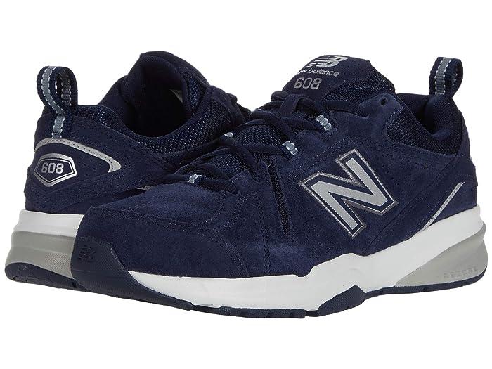 New Balance  608v5 (Pigment/Gunmetal/Silver Metallic) Mens Cross Training Shoes