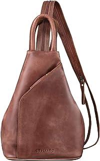 STILORD 'Lyanna' Sling Bag Damen Leder Crossbody Rucksack 2-in-1 Handtasche Frauen Rucksackhandtasche für City Ausgehen Sh...