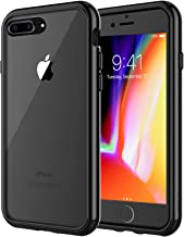 JETech Case for Apple iPhone 8 Plus and iPhone 7 Plus 5.5-Inch, Shock-Absorption Bumper Cover, Anti-Scratch Clear Back, Black