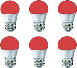 Led bulb Spherical media 3 watt color lighting red 6 pieces