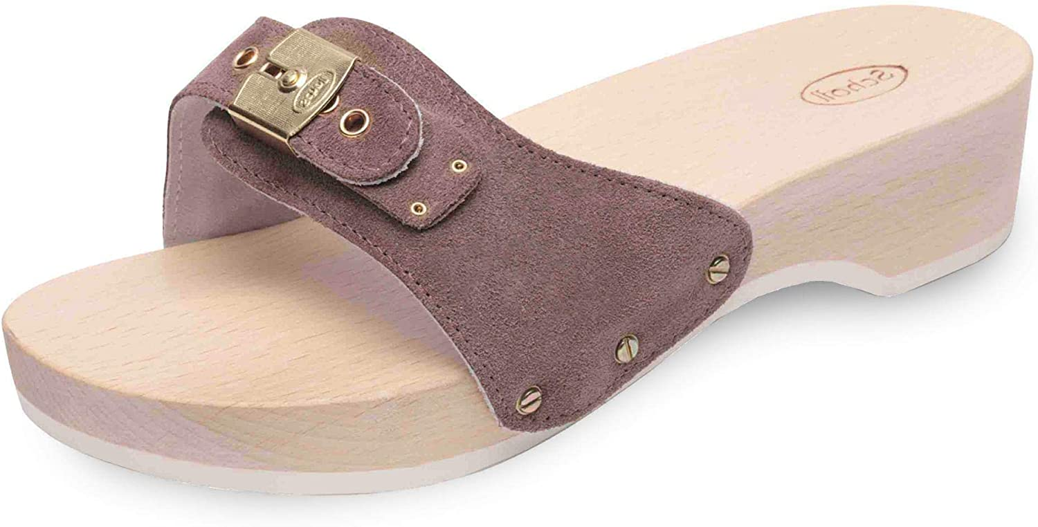Scholl - PESCURA Heel Cuir Suede 647603 Taupe