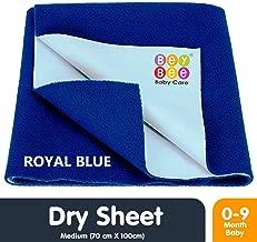 Beybee Just Dry Baby Care Waterproof Bed Protector Sheet - Medium (Royal Blue)