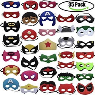 35pcs Cartoon Party Supplies Favors Superhero Masks Children Cosplay Character Felt Masks Party for Kids