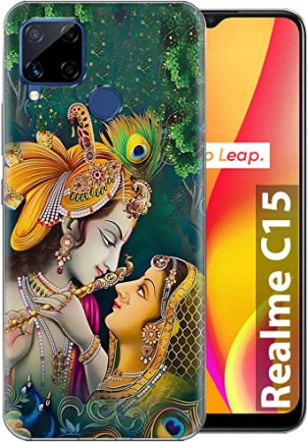 Fashionury Printed Soft Silicone Designer Pouch Mobile Back Cover for Realme C15 Case and Covers for Boys Girls P028