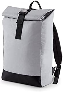 Bagbase Reflective Roll Top Backpack (UK Size: One Size) (Silver Reflective)