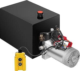 Mophorn 20 Quart Double Acting Hydraulic Dump Trailer Pump (12VDC Double Action Powering Unit, SAE #6 Ports, 3200 PSI, 20 Quart Steel Reservoir)