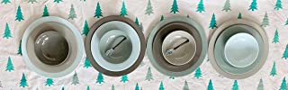 Bowla 12-Piece Melamine Dinnerware Set - Service for 4 (Winter, green and beige)