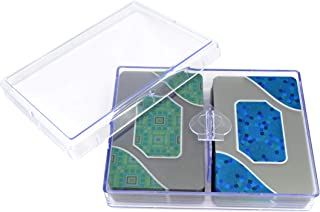 Copag Acqua 100% Plastic Transparent Clear Playing Cards, Standard Index, Bridge Narrow Size