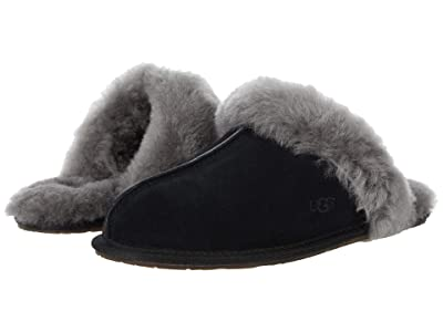 UGG Scuffette II Water-Resistant Slipper (Black/Grey II) Women