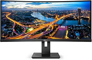 "Philips 34"" Curved UltraWide LCD Monitor with USB-C, TUV Certified"