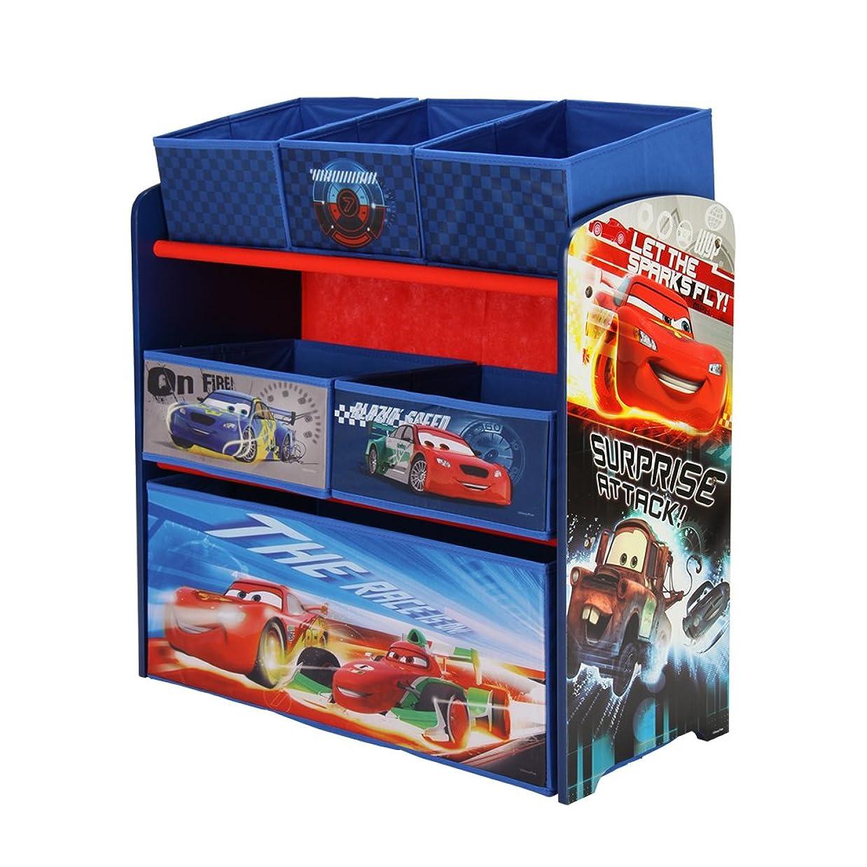 マントタンパク質タクシーDELTA [ デルタ ] おもちゃ箱&子供用家具 TB84822CR Disney Cars ディズニーカーズ Multi Bin Organizer Rainbow Loomの特典付 [並行輸入品]