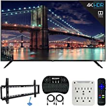 $549 » TCL 55R617 55-inch Class 6-Series 4K HDR Roku Smart TV (2018 Model) Bundle with 37-70-inch Low Profile Wall Mount Kit, Deco Gear Wireless Keyboard and 6-Outlet Surge Adapter with Night Light
