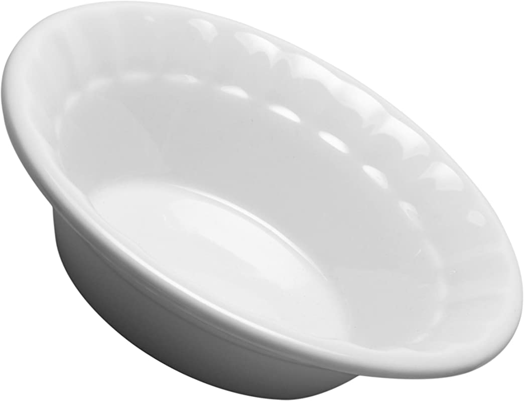 HIC Harold Import Co 98054 HIC Individual Deep Dish Pie Plate 5 Inch Fine White Porcelain