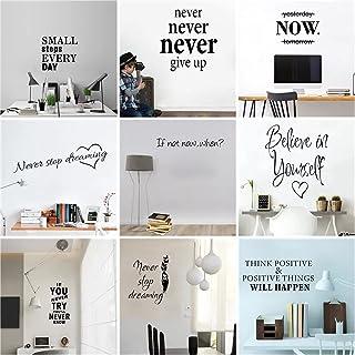 Mcottage Motiverande citat meningar fraser väggdekaler dekaler för företag kontor skola vardagsrum borttagbara tapetdekora...