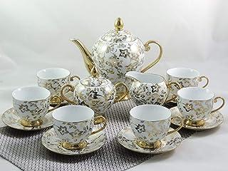 """Service à thé ou café 15 pièces, décor en or """"Golddekor"""""""