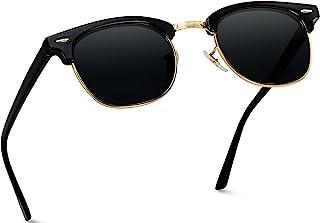 WearMe Pro - Classic Half Frame Polarized Semi-Rimless Rimmed Sunglasses