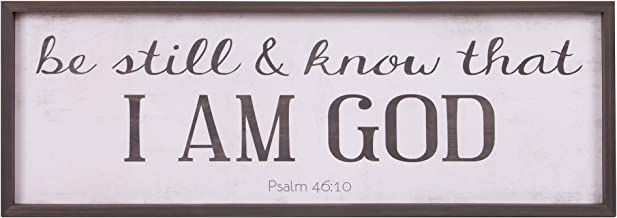 Be Still & Know That I Am God Bible Verse Rustic Wood Framed Wall Art Décor, 12x36