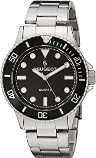 Peugeot Men's Sports Watch with Rotating Bezel Pro Diver and Stainless Steel Bracelet