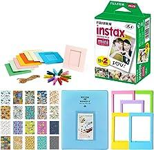 Fujifilm Instax Mini Instant Film Twin Pack (20 Exposures) + 5 Colored Frames + Hanging Frames + Album + Travel Stickers F...