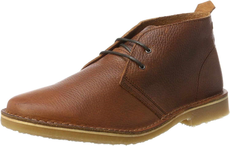 Jack & Jones Men's Jfwgobi Tumbled Leather Brown Stone Desert Boots