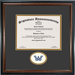 Signature Announcements Wilkes-University Undergraduate, Sculpted Foil Seal Graduation Diploma Frame 16
