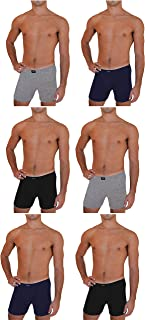 Andrew Scott Big & Tall Men's 6 Pack Cotton Boxer Briefs