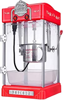 YDXYZ Hot Air Popcorn Maker Machine, Nonstick Pan, Movable Stirrer, Panoramic Window, Interior Lighting, 50s Retro Design,...