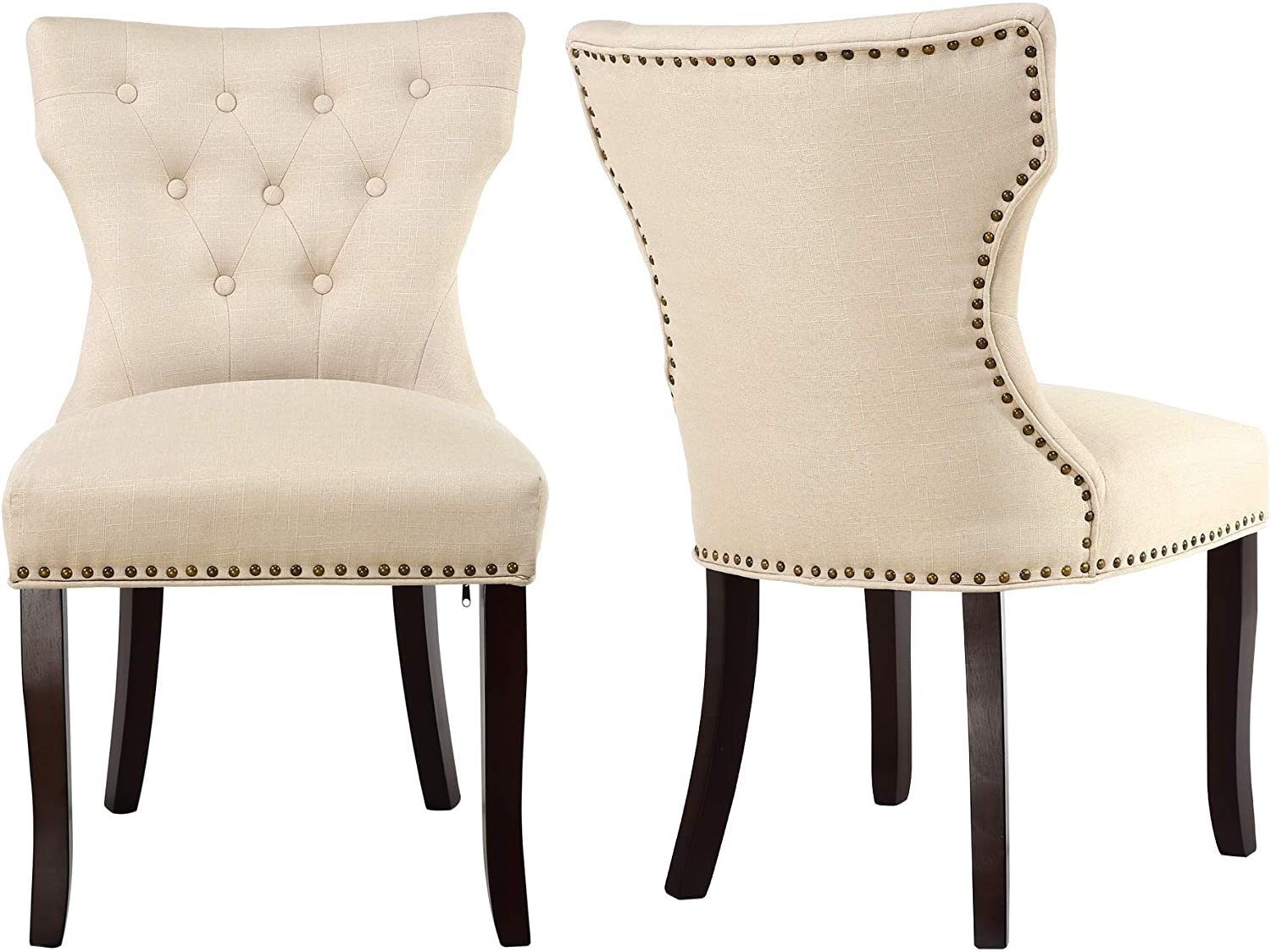 Best for Detailing: LSSBOUGHT Fabric Dining Chair.