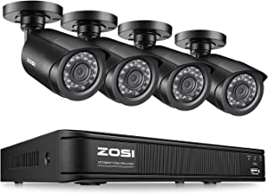 ZOSI 8 Channel 1080p Lite Home Security Camera System,4in1 CCTV DVR Recorder with 4PCS 1280TVL(720p) Night Vision Weatherproof Surveillance Bullet Camera Outdoor/Indoor,Remote Access, Motion Detecion