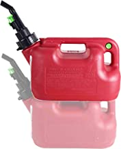 Fuelworx Red 1.5 Gallon Stackable Fast Pour Gas Fuel Cans CARB Compliant Made in The USA Single 1.5 Gallon Gas Cans