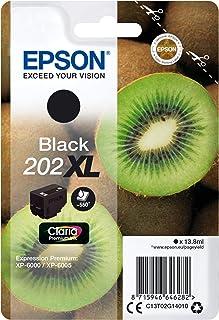 Epson Kiwi Singlepack Black 202XL Claria Premium tusz do drukarki (oryginalny, tusz na bazie pigmentu, czarny, Epson, 1 sz...