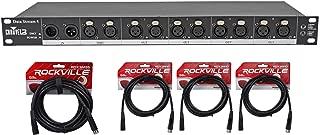 Chauvet DJ Data Stream 4 Datastream 1 - 4 Optical Splitter + (4) DMX Cables