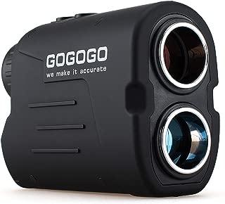 Gogogo Sport Laser Golf/Hunting Rangefinder, 6X Magnification 650/900 Yards Laser Range Finder, Accurate Range Scan, Slope Distance Correction, Pin-Seeker & Flag-Lock,Tournament Legal Golf Rangefinder