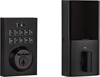 Kwikset 99140-020 SmartCode 914 Modern Contemporary Smart Lock Keypad Deadbolt with SmartKey Security and Z-Wave Plus, Venetian Bronze