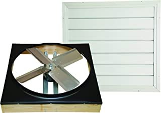 Cool Attic CX302DDWT Direct Drive 2-Speed Whole House Attic Fan with Shutter, 30 Inch (Renewed)