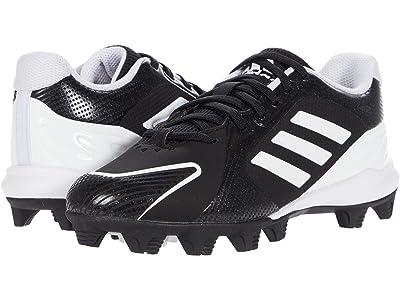 adidas Kids PureHustle MD Baseball (Toddler/Little Kid/Big Kid) (Core Black/Footwear White/Core Black) Kids Shoes