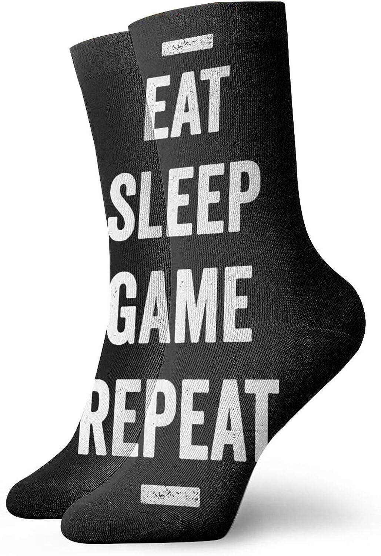 Eat Sleep Game Repeat Short Socks Sports Cotton Socks Casual Socks 30cm