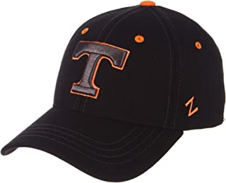 ZHATS University of Tennessee Volunteers Black Element DH UT Vols Fitted Hat/Cap Men's Adult Size XL