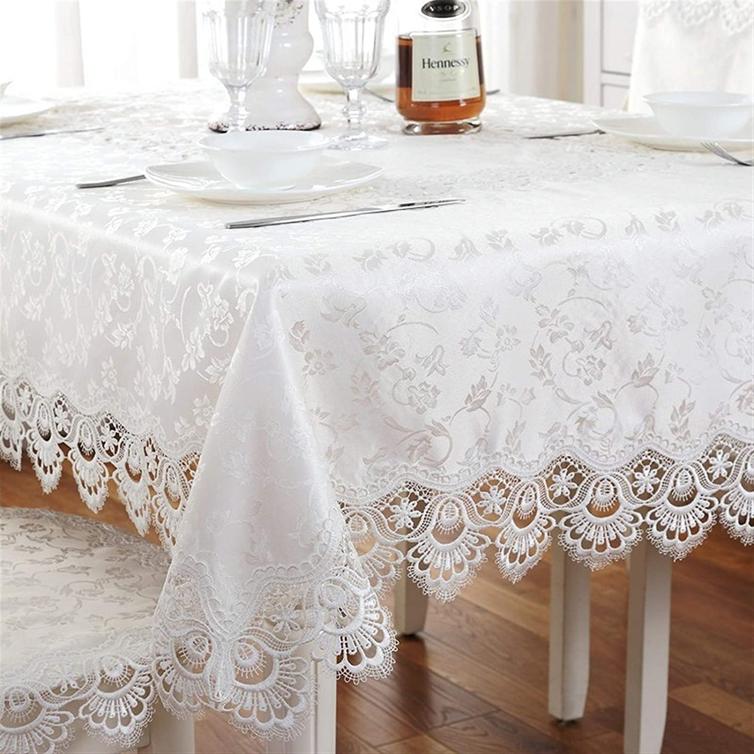 Rectangular Round Lace Tablecloth Free shipping anywhere in the nation excellence Style European Embroidery Craf
