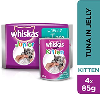 Whiskas Kitten Tuna in Jelly, Pouch, 85g x 4pack