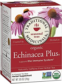 Traditional Medicinals Organic Tea Echinacea Plus 16 tea bags 1713