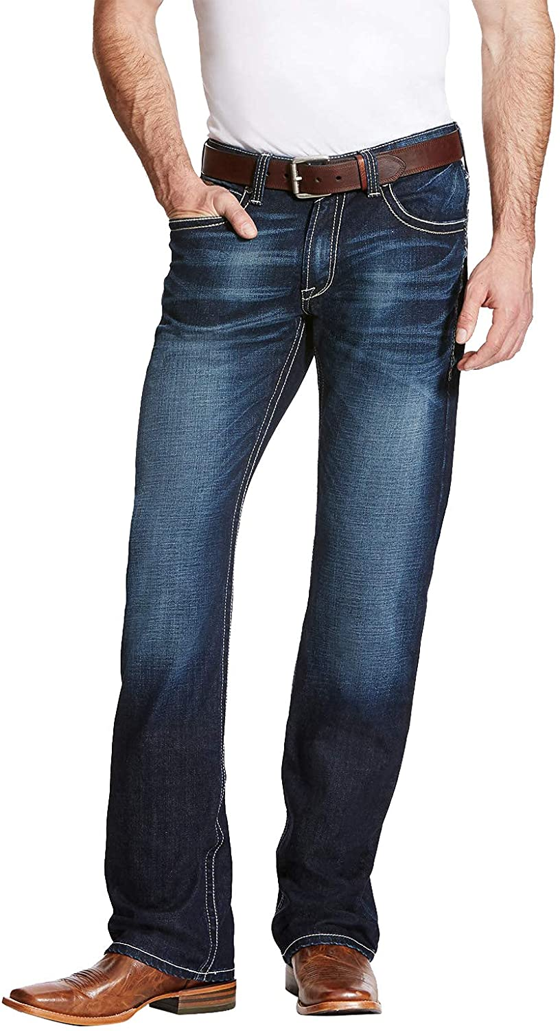 Ariat M4 service Low Rise Boot San Francisco Mall Cut Men's – Denim Jeans Relaxed Fit